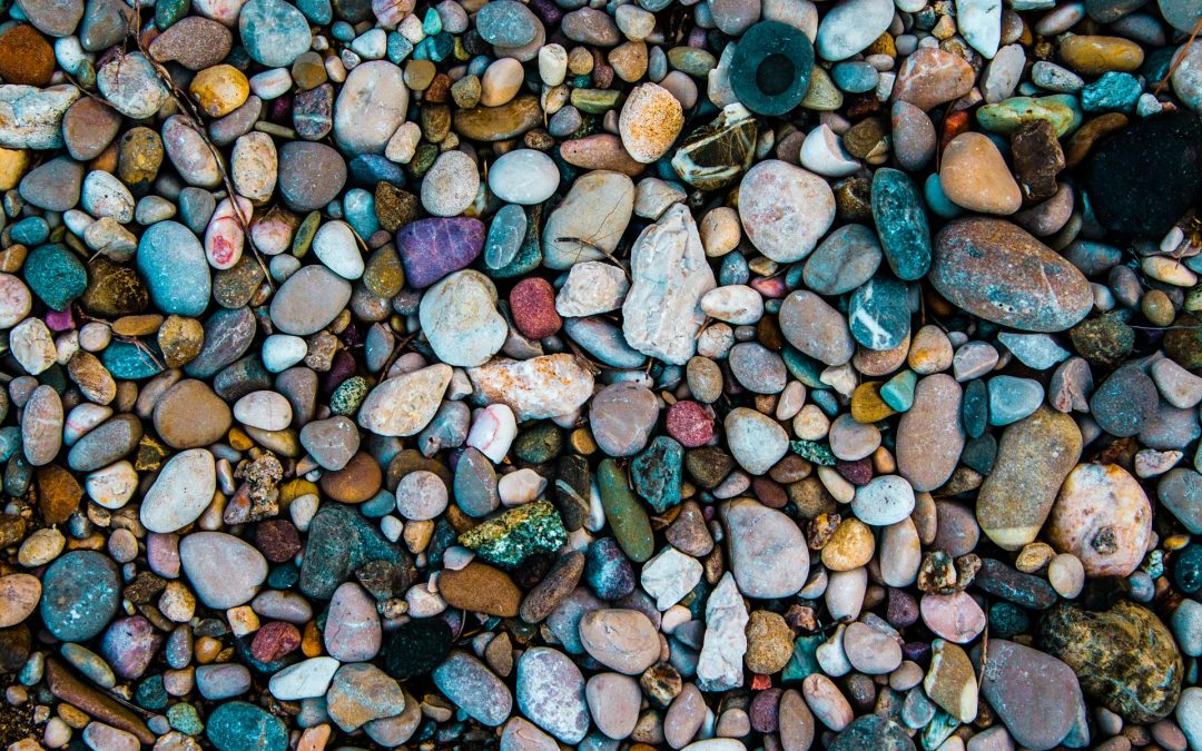 An image of rocks on the beach.