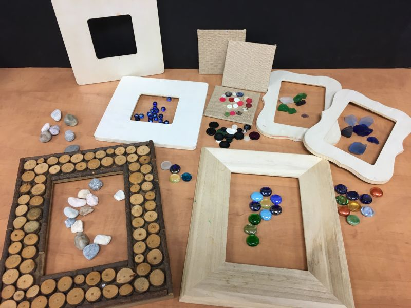 Beads, Rocks and Picture Frames