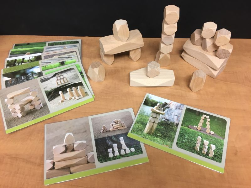 Wooden Blocks and Design Cards